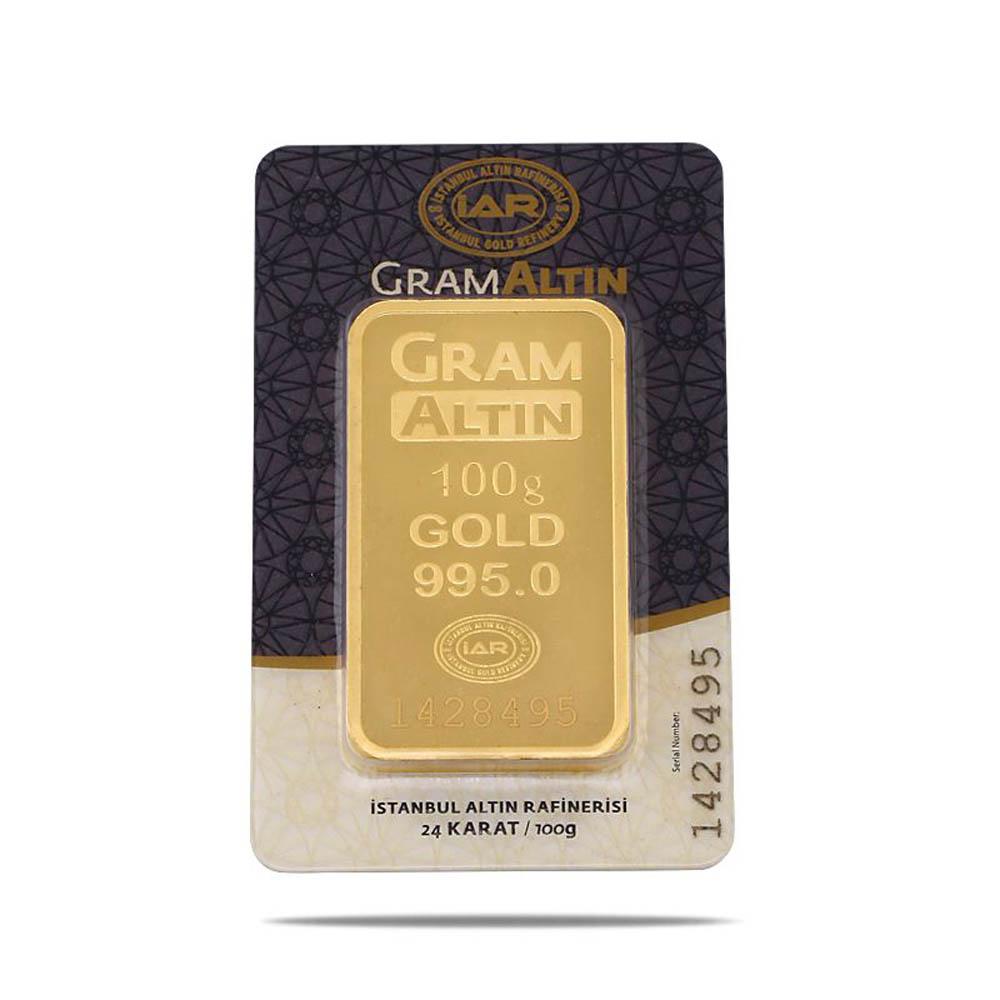 100 Gram 24 Ayar Sertifikalı Gram Altın