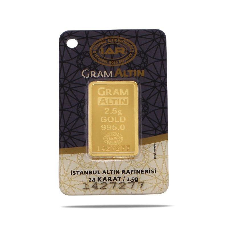 2.5 Gram 24 Ayar Sertifikalı Gram Altın