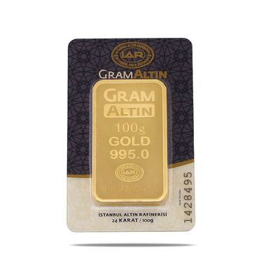 100 Gram 24 Ayar Sertifikalı Gram Altın Havale Eft