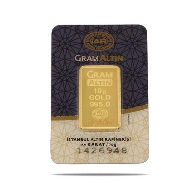 10 Gram 24 Ayar Sertifikalı Gram Altın