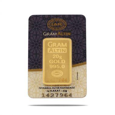 20 Gram 24 Ayar Sertifikalı Gram Altın
