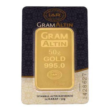 50 Gram 24 Ayar Sertifikalı Gram Altın