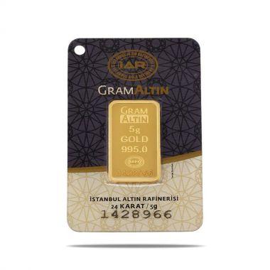 5 Gram 24 Ayar Sertifikalı Gram Altın